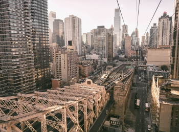 New York City from Above - Midtown Skyscrapers and Queensboro Bridge-XL